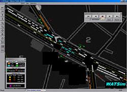 交通流動アニメーション画面